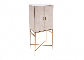 Broughton House Bespoke Gold Legs Cupboard