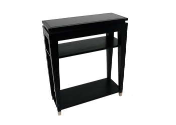 Broughton House Black Wood Side Table