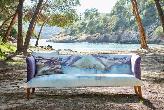 Handmade Harlequin Sofa