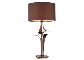 Broughton House Bronze Twist Side Lamp