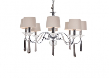 Broughton House Chrome Lamp Shade Chandelier