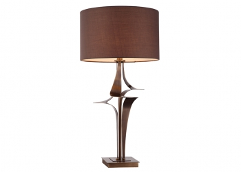 Broughton House Bronze Twist Side Lamp