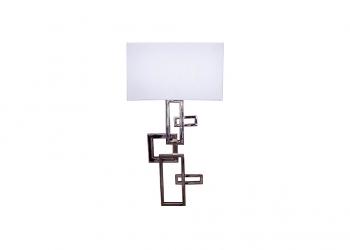 Broughton House Chrome Square Rectangle Design Light