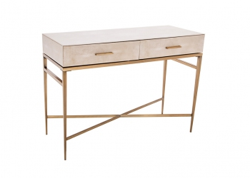 Broughton House Bespoke Gold Leg Two Drawer