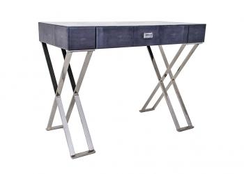 Broughton House Glass Leg Black Tall Side Table