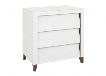 Broughton House White Drawer Side Table
