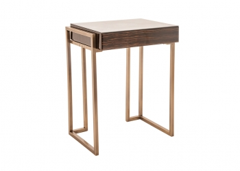 Broughton House Wood Gold Leg Side Table